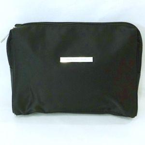 GIOGIO ARMANI~BLACK SATIN COSMETIC BAG